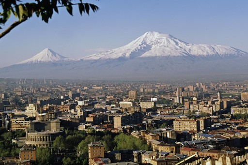 Yerevan with views to Mount Ararat