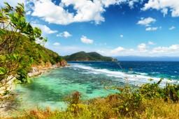 Wild coastline of the Philippines