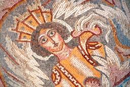 Byzantine mosaic in Madaba, Jordan