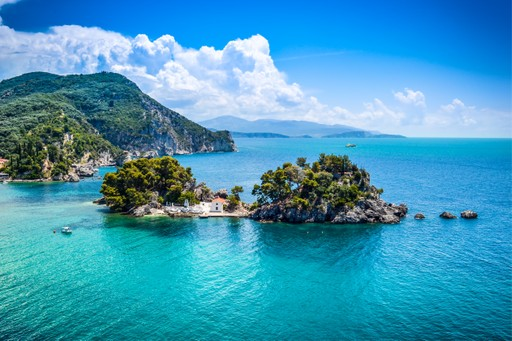 Panagia island Greece (near Parga)