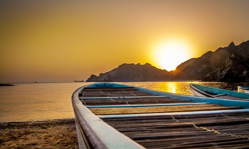Darsait beach in Muscat, Oman