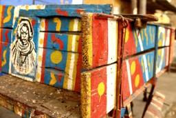 Traditional painted cart, Senegal