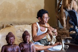 Indonesian wood carver