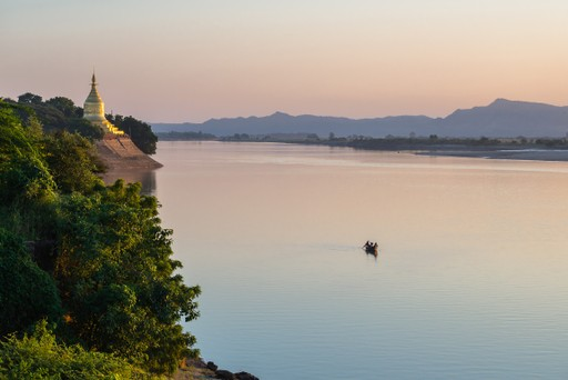 Irrawaddy River sunset