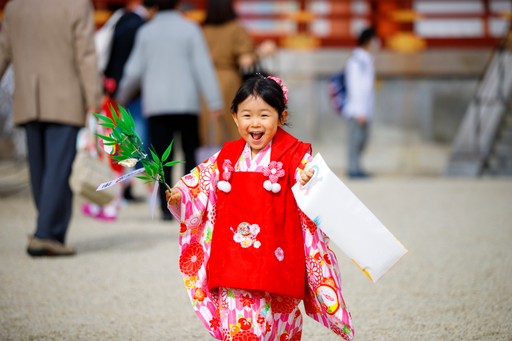 Little girl at Sichi Go San festival