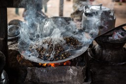 Roasting coffee in Ethiopia