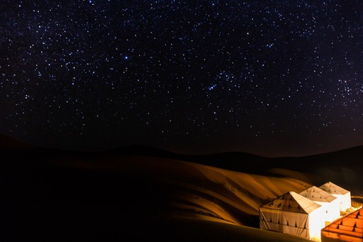 A camp in the Moroccan Sahara