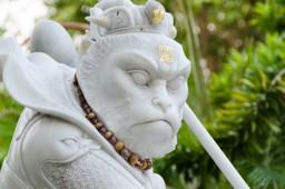 Monkey statue, China