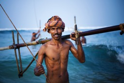 Local fisherman in Sri Lanka