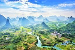 Karst scenery near Yangshuo