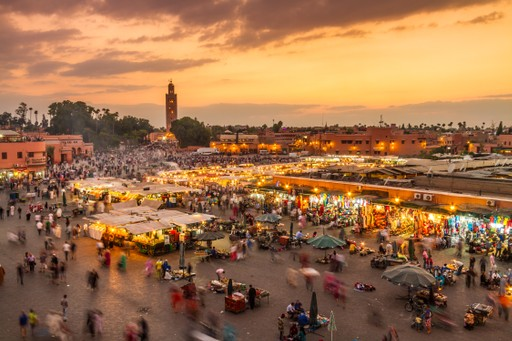 The Jamaa el Fna market square in Marrakech