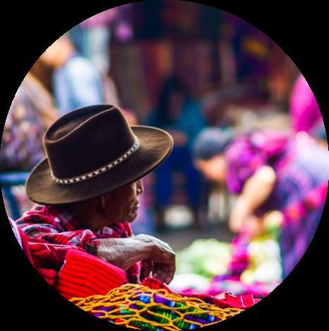 Mayan man in Chichicastenango Market, Guatemala