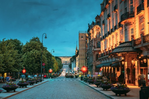 Norway holiday:  Oslo in the evening
