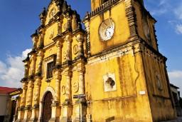 Iglesia La Recoleccion, Yellow church in Leon Nicaragua