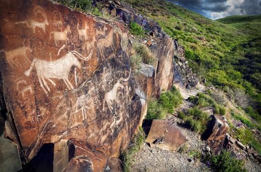 Tamgaly petroglyphs Kazakhstan