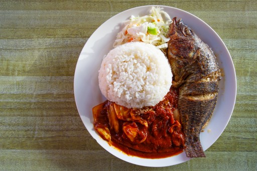 Tilapia fish traditional food Ghana