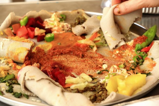 Ethiopian traditional Injera food