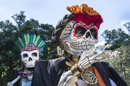 Mexico holidays: Day of the dead puppets