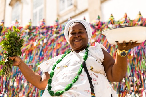 Afro-Brazilian lady in Salvador, Brazil