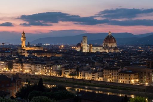Italy holiday: Florence at night