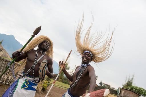 Smiling men in Rwanda
