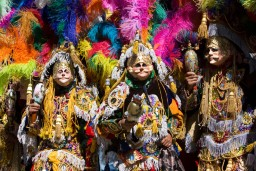 The Locals of small highland town of Chichicastenango dress up to celebrate the Festa of San Tomas
