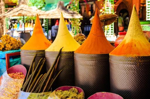 Spices in Marrakesh market