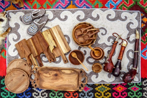 Almaty Kazakhstan traditional art stall