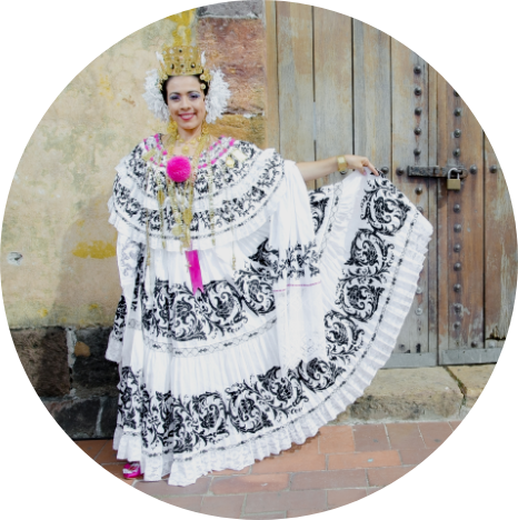 Lady in traditional dress - Panama