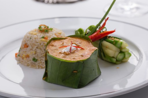 'Amok' is a Khmer speciality which involves cooking food in a banana leaf