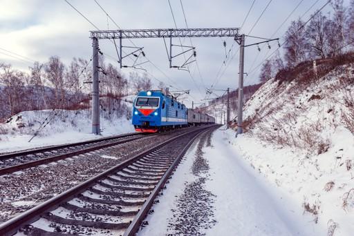 Trans Siberian Railway Train Russia
