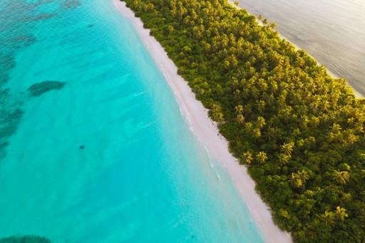 Thin Maldives island