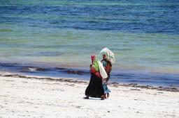 Local women on the beach in Senegal