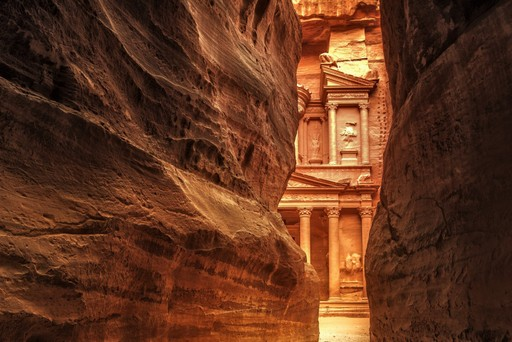 Petra through the rocks