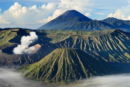 Volcanoes cover Indonesia
