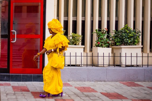 Lady in Dakar, Senegal