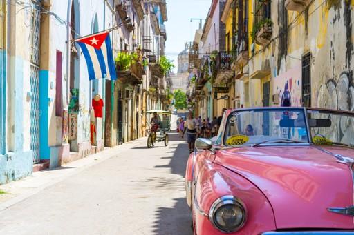 Retro car Havana Cuba