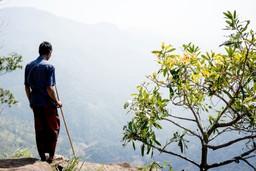 Local guide admiring the view in Ella