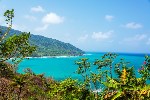 Caribbean Sea and turquoise waters in Panama