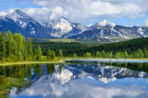 Atlai Mountains Russia Summer lake