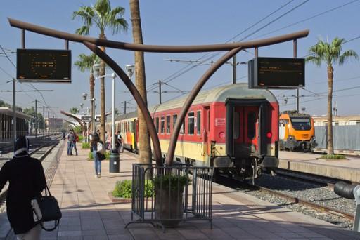 A train in Morocco