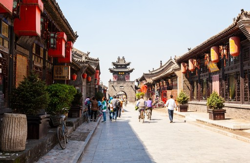 Ancient streets of Pingyao, China