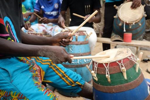 Accra Ghana drummers street music