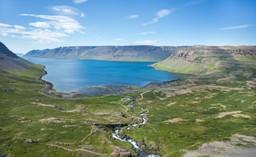 River running into Arnarfjörður, Iceland