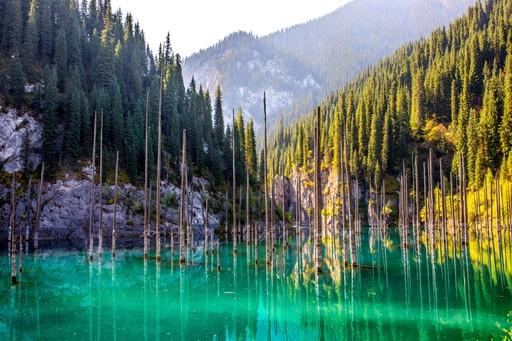 Tien Shien mountains Lake Kaindy Kazakhstan