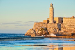 Lighthouse on Castillo de los Tres Reyes del Morro, Cuba