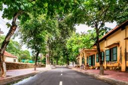Street on Con Dao island Vietnam