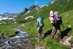 Hiking in the Svaneti highlands, Georgia, Europe