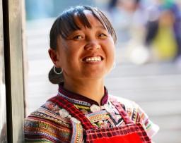 Yizu ethnic lady, Yunnan province