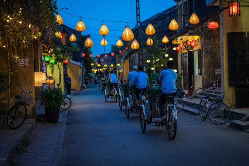 Cycling through Hoi An at night
